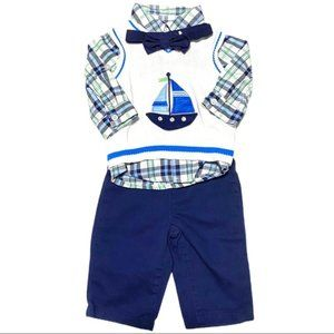 Healthtex Baby Sailboat 4-Piece Outfit